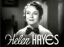 L'actriz estatounitense Helen Hayes en a cinta What Every Woman Knows (1934).