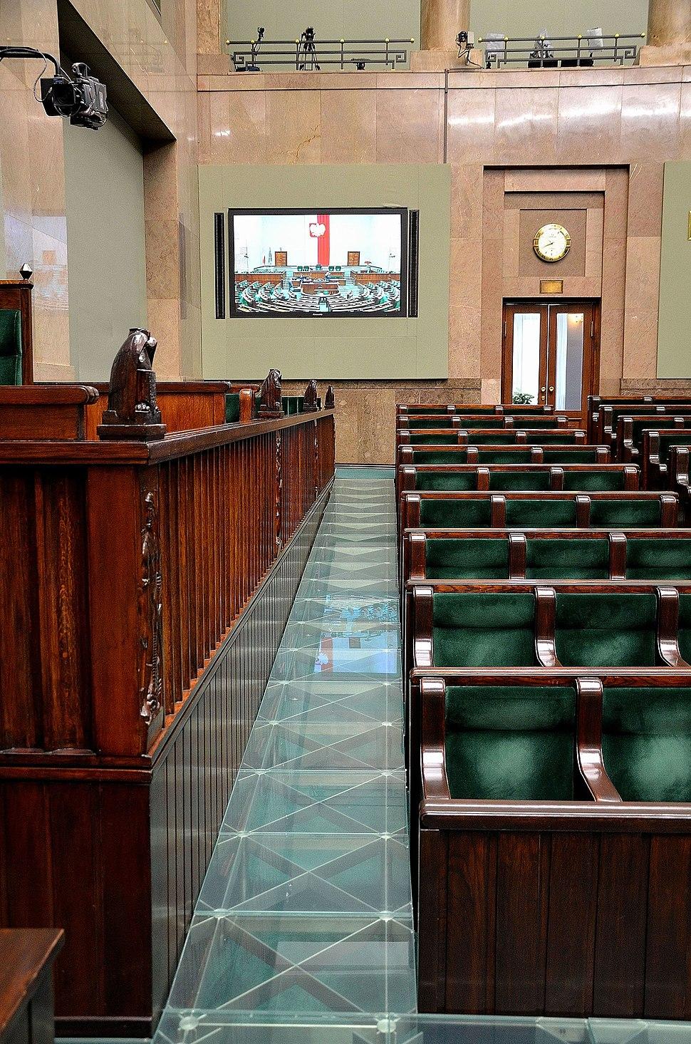 Wheelchair ramp Sejm Plenary Hall