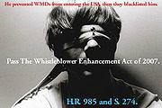 Poster in support of whistleblower legislation