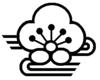 White coat of arms background in black Minabegawa Wakayama chapter.png
