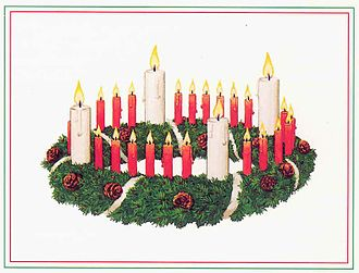 Advent wreath - Advent wreath as designed by Wichern