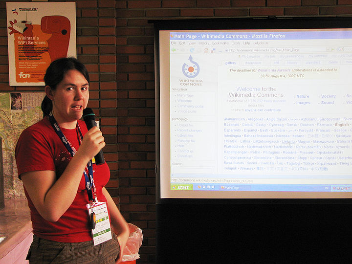 Wikimania 2007 Brianna Laugher 3.jpg