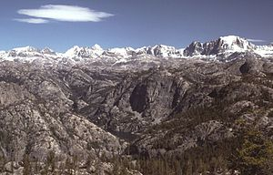The Wind River Range, Wyoming, as viewed from ...