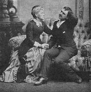 Ghosts (play) - Hedvig Winterhjelm as Mrs. Alving and August Lindberg as Osvald in the 1883 Swedish performance.
