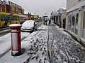 Winton, snow-spattered postbox - geograph.org.uk - 1150440.jpg