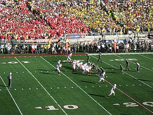 2012 Rose Bowl - Image: Wisconsin offense, 2012 Rose Bowl