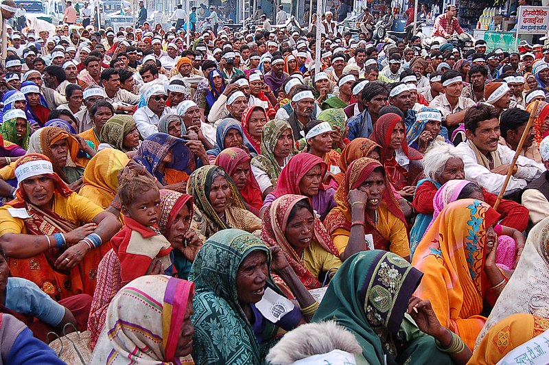 File:Women at farmers rally, Bhopal, India, Nov 2005.jpg