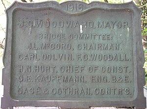 James G. Woodward - Image: Woodward Bridgbe plaque
