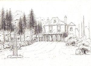 Thomas Abel Brimage Spratt - Woodway Cottage in 1825, birthplace of Thomas Spratt.