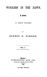 <i>Workers in the Dawn</i> novel by George Gissing