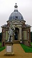 Wrest Park - The Pavillion and statue of William III dressed as a Roman Emporer.jpg