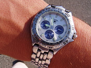 English: My Fossil watch and it's beuty