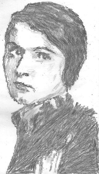 Audrey Wurdemann - Pencil sketch of Audrey Wurdemann