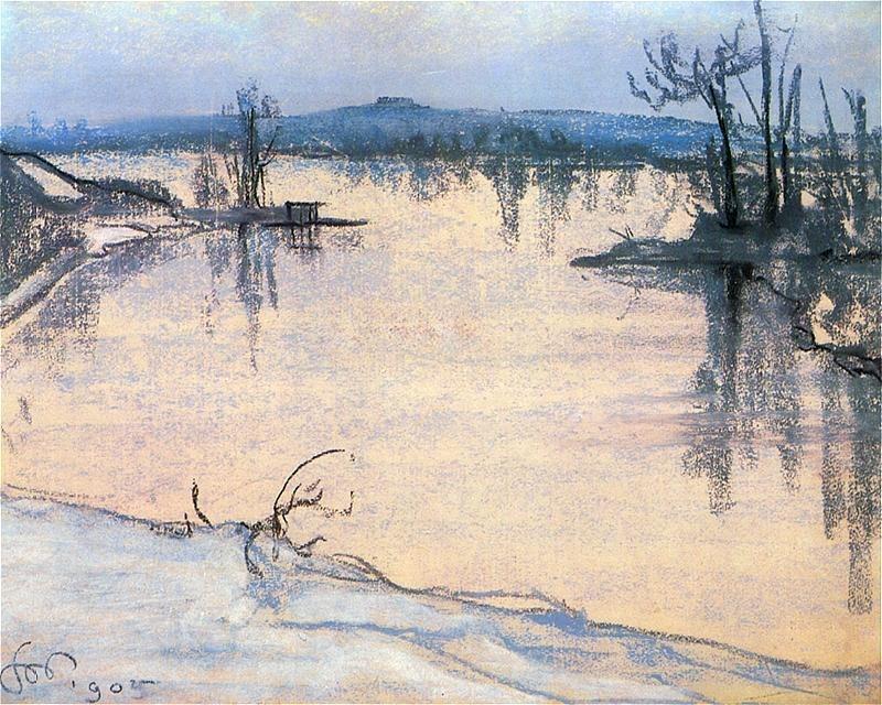 Wyspiański, Wisla pod Krakowem, 1905