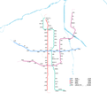Xi'an Metro System Map 2018.png