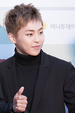 Xiumin - 2016 Gaon Chart K-pop Awards red carpet.jpg