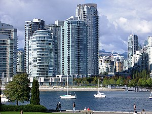 English: View of Yaletown, looking North-ish