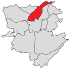 Arabkir district shown in red