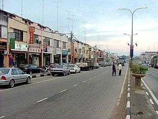 Yong Peng town in 2010.