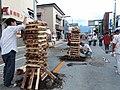 Yoshida Fire Festival Igeta torches.JPG