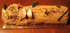 A chocolate yule log.