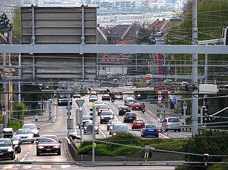 Wipkingen - Rosengartenstrasse, seen from Bucheggplatz
