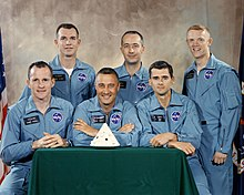 Six men in flight suits