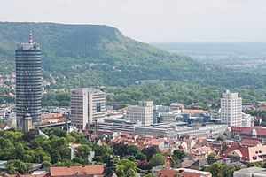 Thuringia - Jena: City centre and Carl Zeiss' high-rises