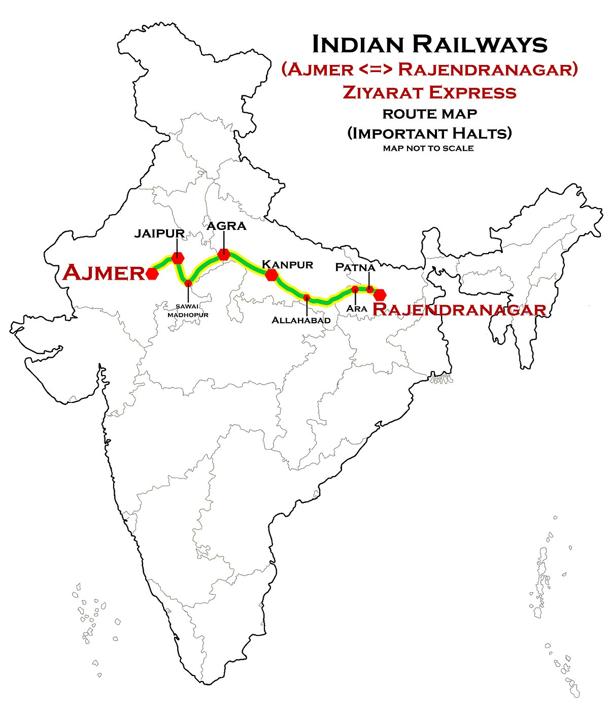 1200px-Ziyarat_Express_%28Ajmer_-_Rajendranagar%29_Route_map Map A Route With Multiple Stops on map multiple stops, map multiple destinations, map multiple sites, map multiple addresses,