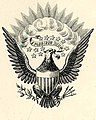 """E PLURIBUS UNUM"" Bald Eagle art in 1882 detail, from- Uniform of the army of the United States, 1882 (page 4 crop).jpg"
