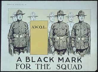 Desertion - A United States wartime poster deprecating absence