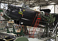 'Thumper', the Avro Lancaster Mk III undergoing maintenance in the BBMF hangar at RAF Coningsby. MOD 45158865.jpg