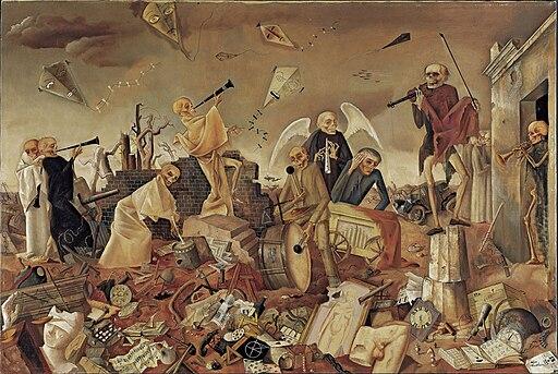 'Triumph des Todes (Die Gerippe spielen zum Tanz)', 1944 by Felix Nussbaum