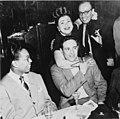 (Portrait of Billy Taylor, Sylvia Syms, William P. Gottlieb, and Ahmet M. Ertegun, New York, N.Y., ca. 1947) (LOC) (5476591278) (cropped).jpg
