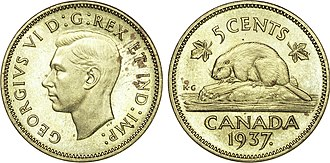 Emperor of India - Coins of the British Empire and its dominions routinely included the title Ind. Imp., such as this Canadian five-cent piece.