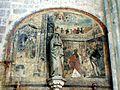 Étampes (91), collégiale Notre-Dame du Fort, croisillon nord, porte de la sacristie, peinture murale - Ecce homo 2.jpg