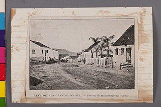 État de Rio Grande do Sul - Une Rue de Hambourgberg (Colonie)
