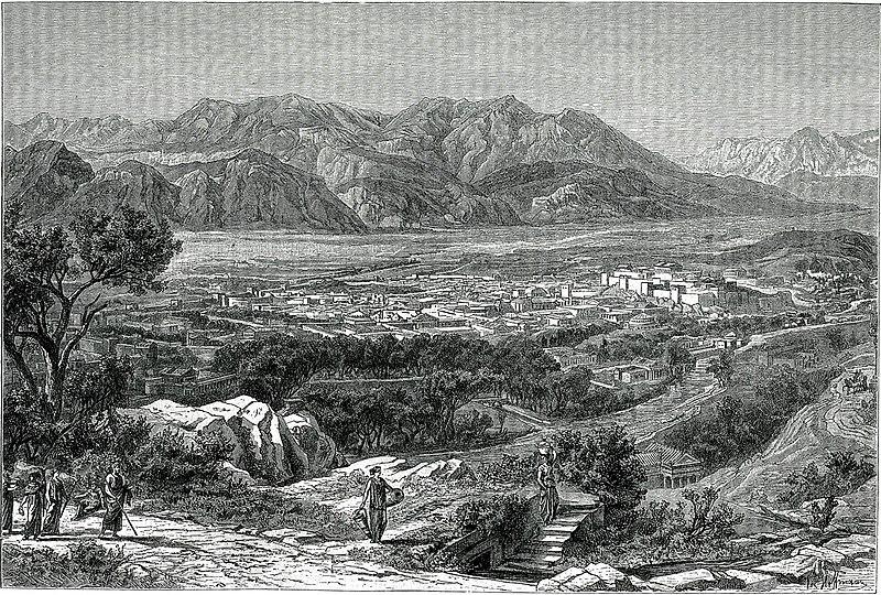 File:Η Σπάρτη, όπως φαινόταν παλία από τις Θεράπνες Δεξιά η ακρόπολη κα - Falke Jacob Von - 1887.jpg