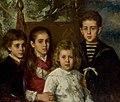 Алексе́й А. Харла́мов - Портрет детей Павла Павловича Демидова (1883).jpg