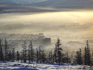 Bilibino Town in Chukotka Autonomous Okrug, Russia