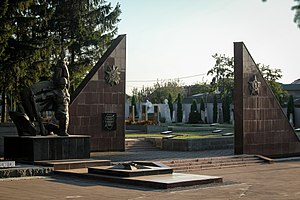 Rivne - Memorial to Warriors' Glory, Dubens'ka Street, Rivne Military Cemetery