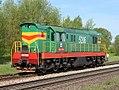 ЧМЭ3-5206, Латвия, Даугавпилс, подъездной путь от станции Даугавпилс-Пассажирский (Trainpix 135501).jpg