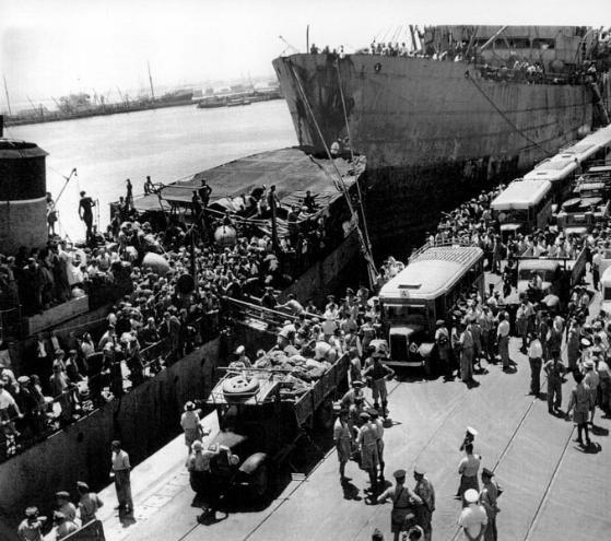 אוניית המעפילים וג'ווד בנמל חיפה