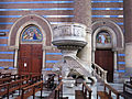 013 Església de l'Hospital de Sant Pau, púlpit de Sant Lluc.JPG