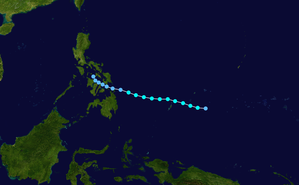 1957 Pacific typhoon season - Image: 01W 1957 track
