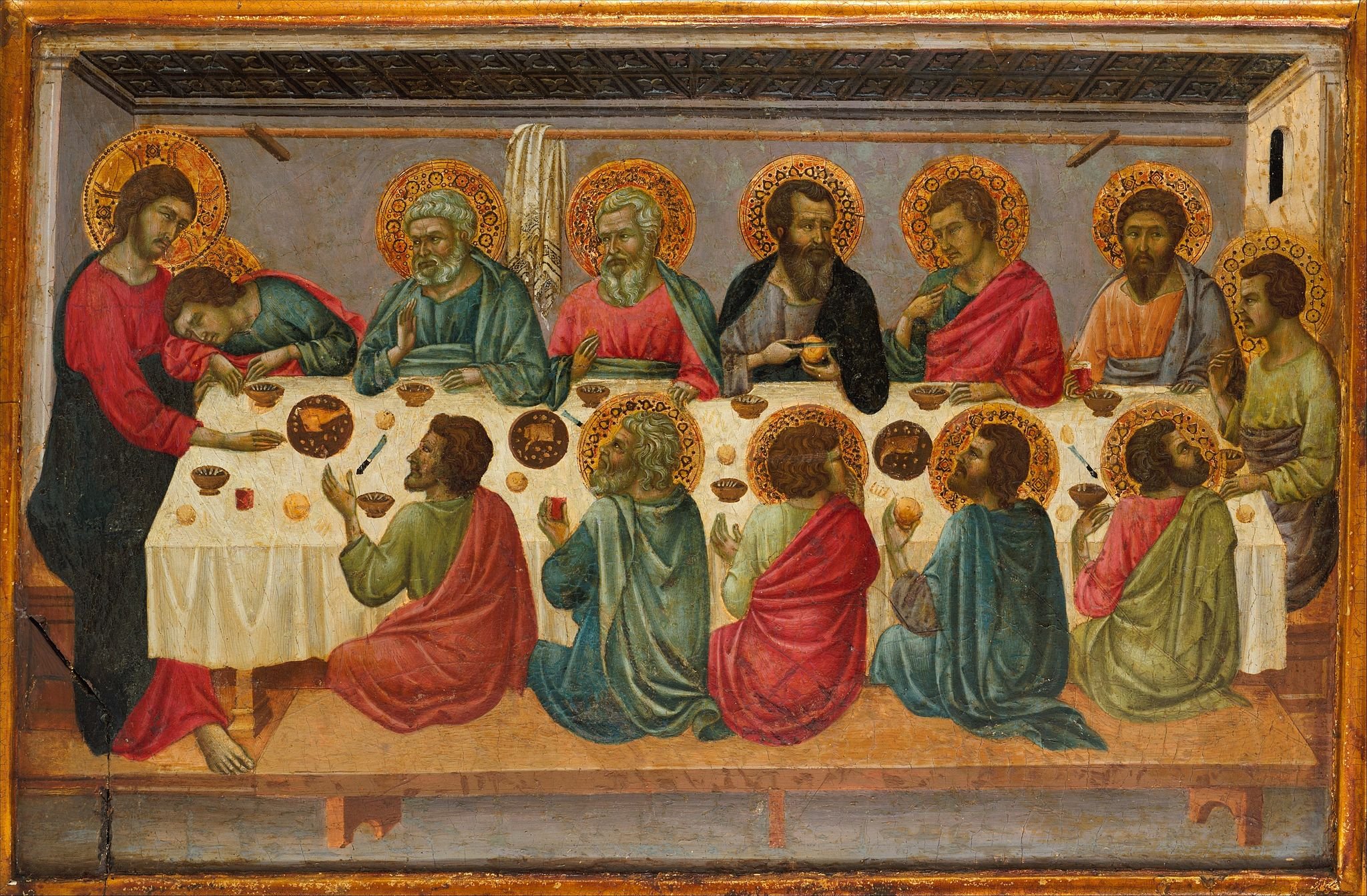Ugolino di Nerio, The Last Supper, 1324-05, Metropolitan Museum of Art, New York