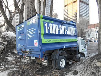 1-800-GOT-JUNK? - Stuck truck in Montreal