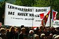 1. Mai 2011 Hannover Klagesmarkt Transparent Tarifverträge für die Diakonie Ver.de verdi Betriebsgruppen DDH Birkenhof Stephansstift.jpg