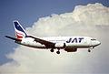 103da - JAT Yugoslav Airlines Boeing 737-3H9; YU-ANK@ZRH;11.08.2000 (6328889910).jpg