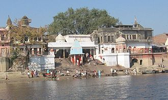 Bithoor - Brahmavart Ghat Picture taken on Shivaratri day shows the pilgrims about to start their two-day austerity trek.